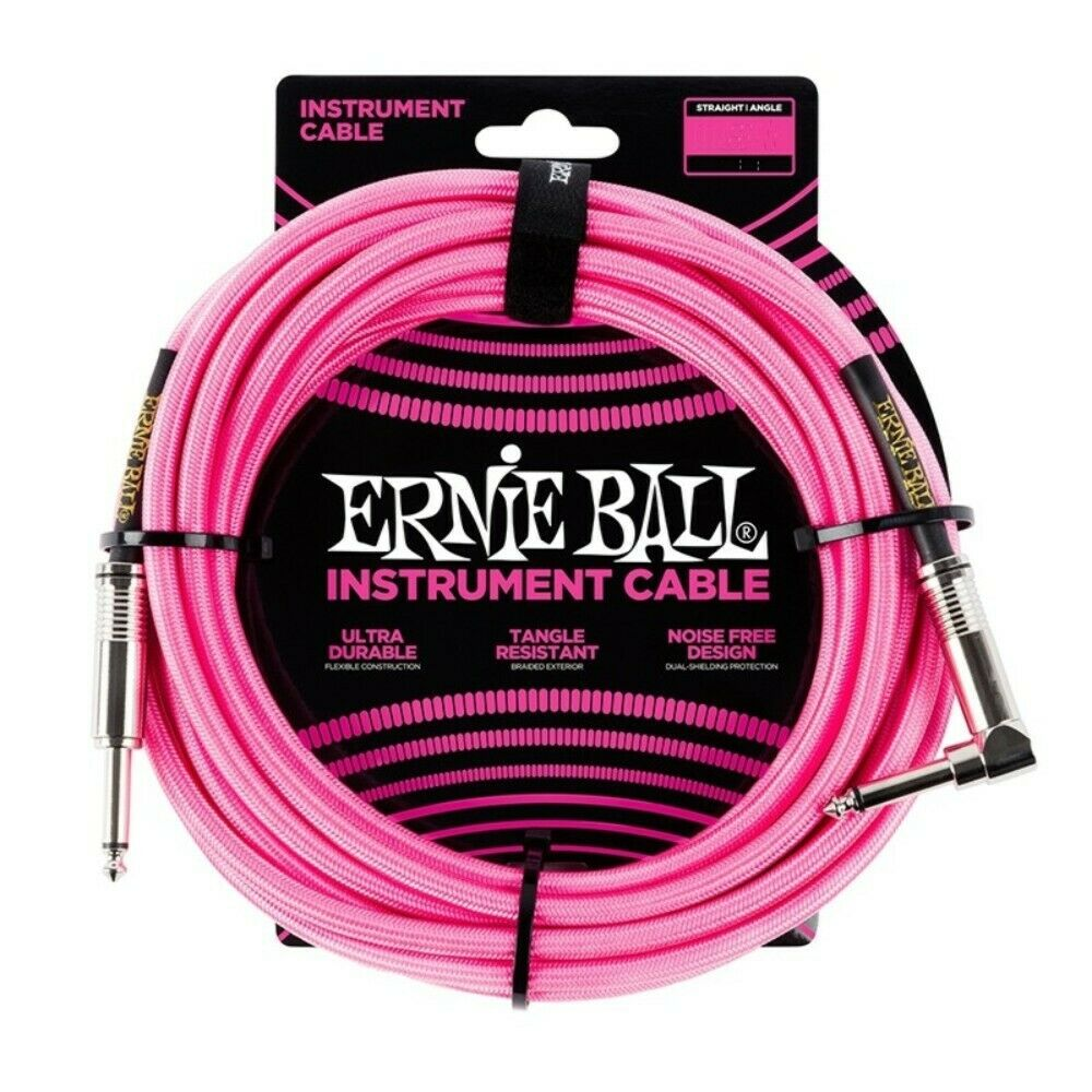 Ernie Ball Braided Cable - 10FT PINK