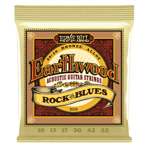 EARTHWOOD Rock & Blues 80/20 BRONZE ACOUSTIC GUITAR STRINGS - 10-52 GAUGE 2008