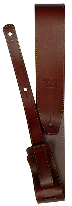 Brown Premium Leather Guitar Strap - TGI