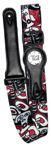 Skeleton Red Guitar Strap - TGI