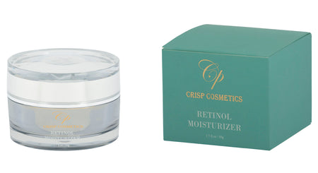 Retinol Moisterising Cream, derived from pure natural Coconut oil, mixed with shea butter, green tea, vitamin e oil, aloe vera extract and Jojoba oil - Crisp Cosmetics