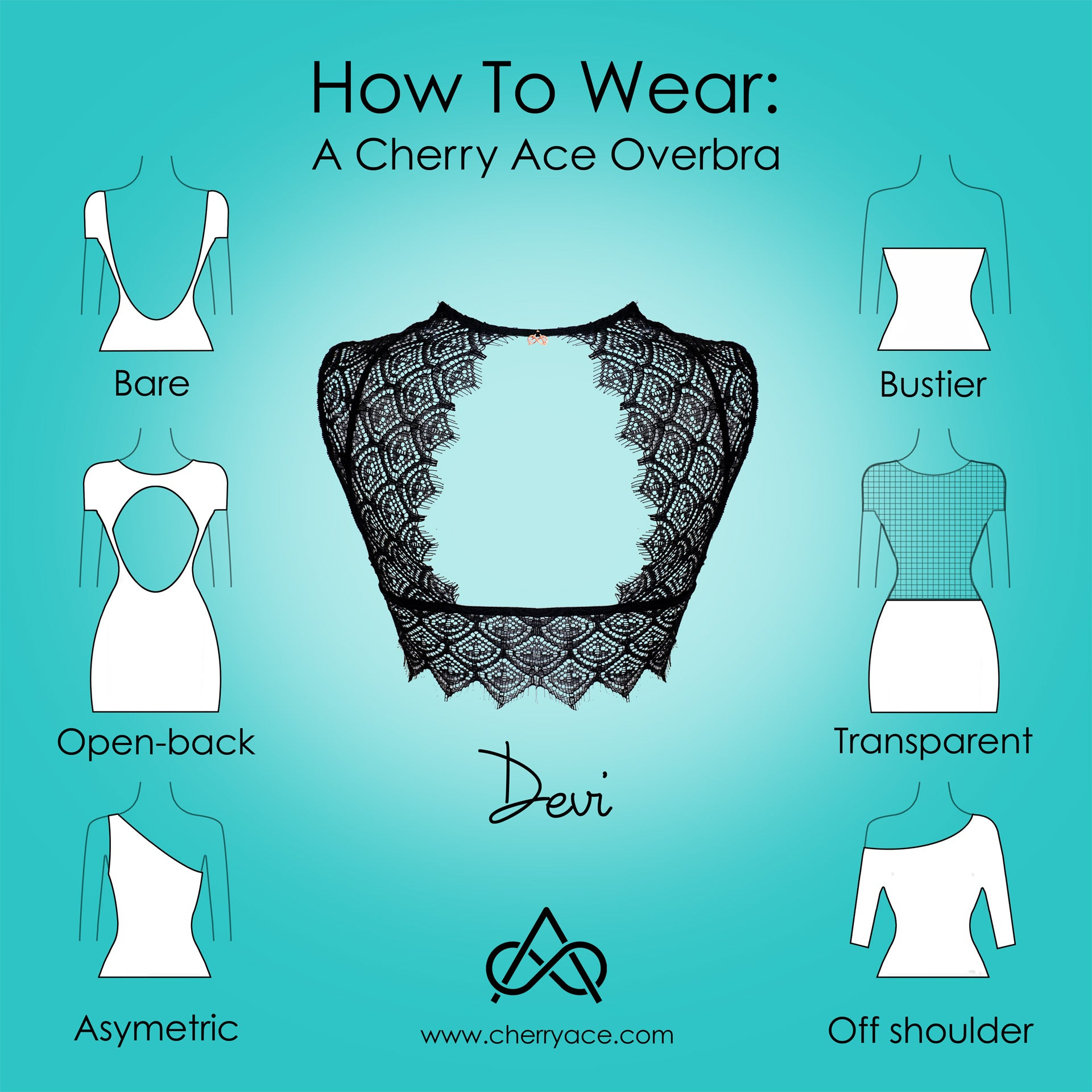 How to wear Devi, eyelace lingerie accessory