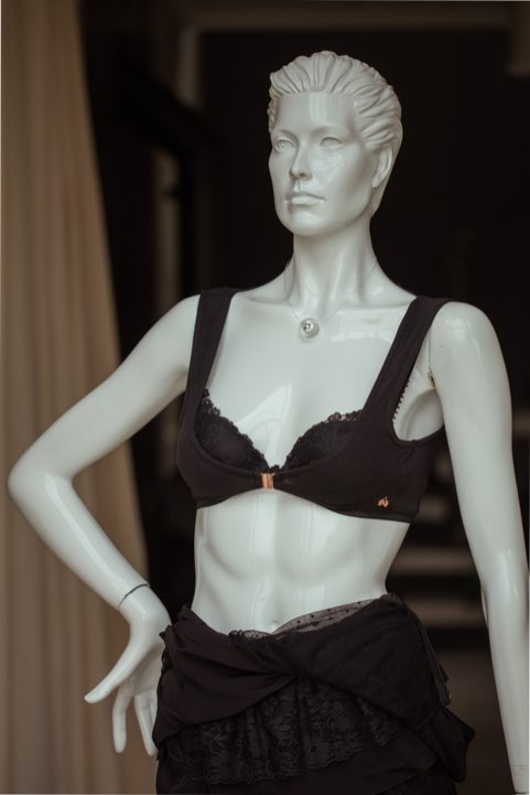 Front image of the undergarment over a bra.