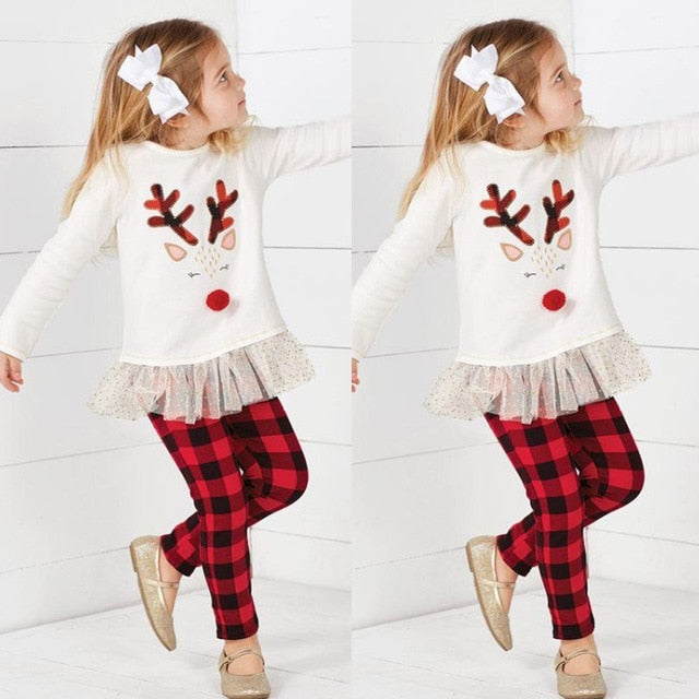 Reindeer Plaid Outfit