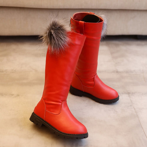 Girls Pom Winter Boots