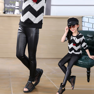 High Quality Leather Slim Pants