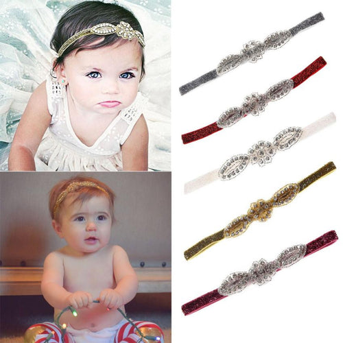 Retro Rhinestone Girls Headband