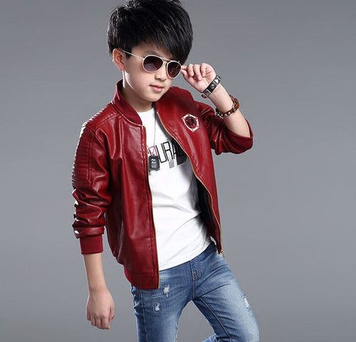 Boys Faux Leather Jackets