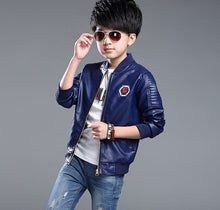 Load image into Gallery viewer, Boys Faux Leather Jackets