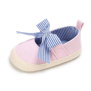 Soft Solid Striped Kids Shoes