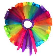 Load image into Gallery viewer, Bow Rainbow Tutu