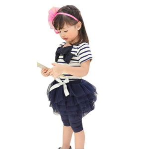 Girls Bow Top And Tutu Leggings