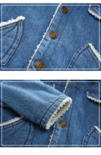 Load image into Gallery viewer, Boys Winter Denim Jacket