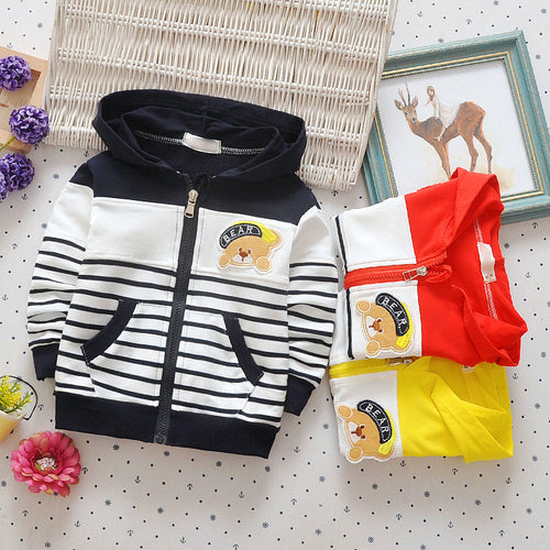 Striped Baby Spring Hoodie