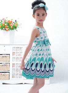 Bubbly Peacock Dress