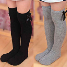 Load image into Gallery viewer, Toddler Bow Knee High Socks