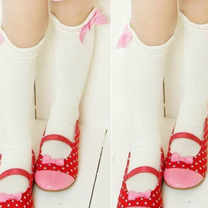Toddler Bow Knee High Socks