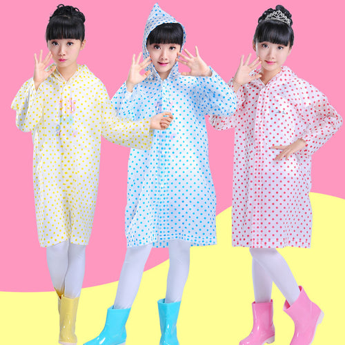 Transparent Dots Kids Rain Gear