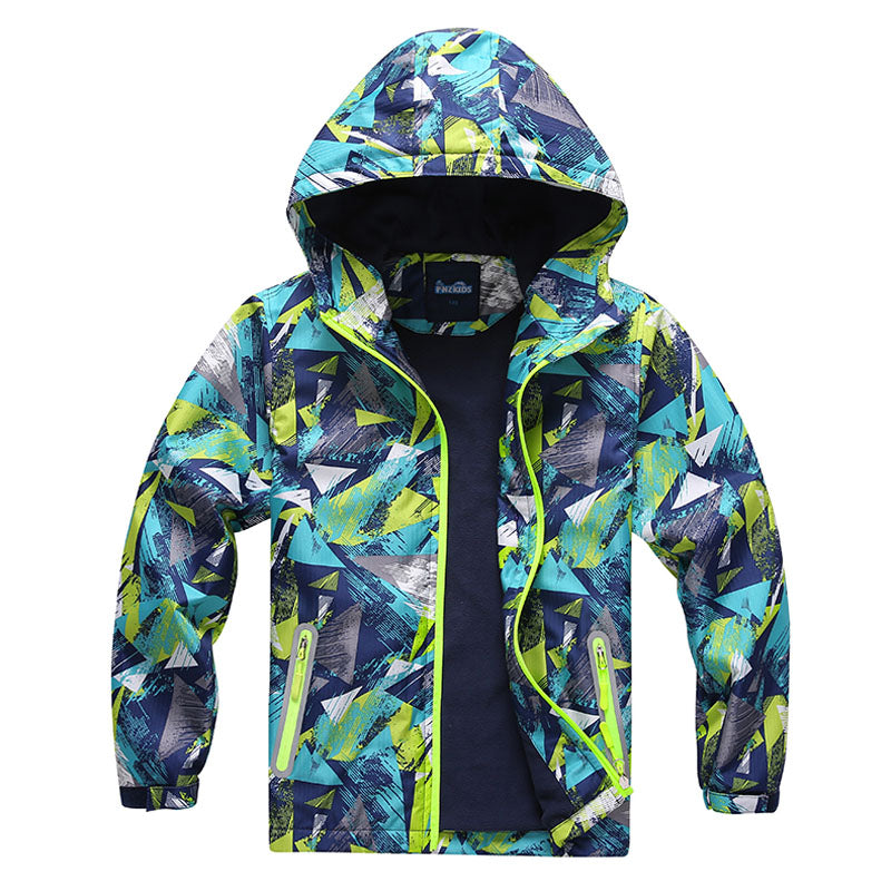 Geo Waterproof Windbreaker