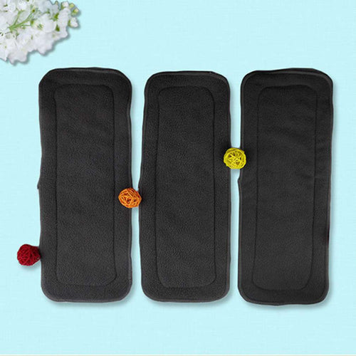 5 Pcs Reusable 4 Layer Bamboo Charcoal Diaper Insert