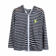 Load image into Gallery viewer, Striped Hooded Light Jacket