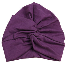 Load image into Gallery viewer, Cotton Soft Turban Kids Hat