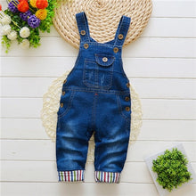 Load image into Gallery viewer, Dark Blue Jean Overalls