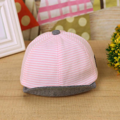 Cotton Stripe Unisex Kid Hats