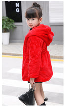 Load image into Gallery viewer, Winter Fur Fleece Kids Coat