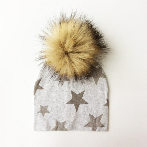 Artificial Fox Fur Cotton Hat
