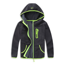 Load image into Gallery viewer, Hooded Soft Shell Fleece Jacket