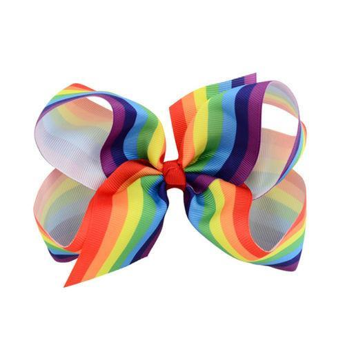 Rainbow Ribbon Hairclip