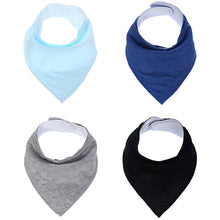 Load image into Gallery viewer, 4 Piece Solid Color Bandanna Bib