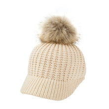 Load image into Gallery viewer, Knitted Pom Pom Cap