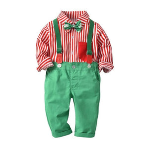 Red And Green Boys Suit