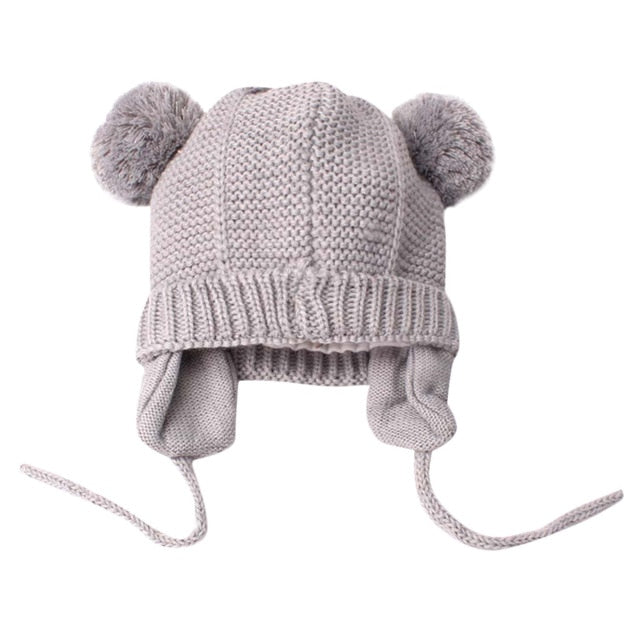 Baby Ear Cover Pom Cap