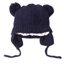 Load image into Gallery viewer, Baby Ear Cover Pom Cap