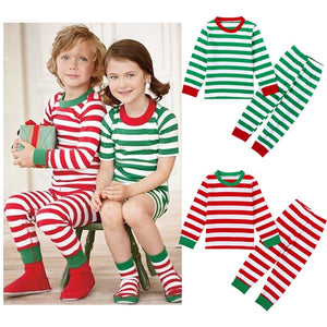 Red And Green Striped Pajamas