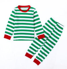 Load image into Gallery viewer, Red And Green Striped Pajamas