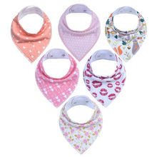 Load image into Gallery viewer, 6 Piece Bandanna Drool Bibs