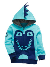 Load image into Gallery viewer, Dinosaur Hooded Sweater