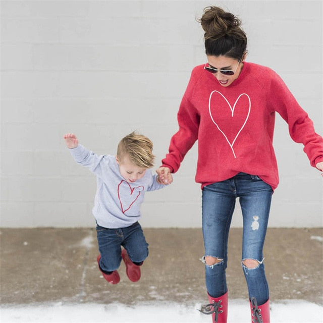 Mommy And Me Heart Sweater