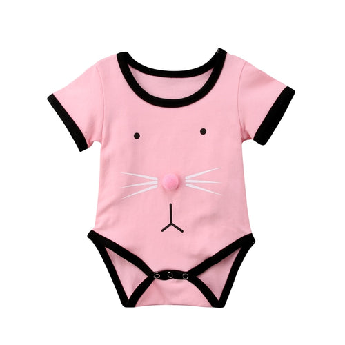 Bunny Nose Onesie For Baby Girl