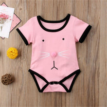 Load image into Gallery viewer, Bunny Nose Onesie For Baby Girl