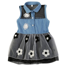 Load image into Gallery viewer, Denim Top Tutu dress