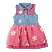Load image into Gallery viewer, Girls Denim Top Tutu dress