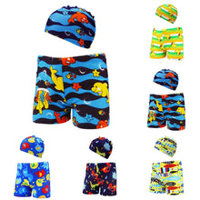 Load image into Gallery viewer, 2Pc Boys Swim Trunks and Hat