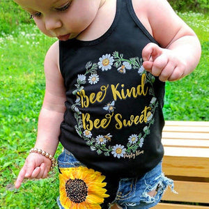 Bee Kind Bee Sweet Tank Top and Denim Shorts