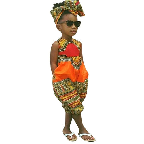 African Romper and Headband