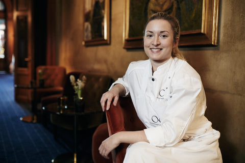 Sara at her work at Michelin-starred restaurant Operakällaren in Stockholm.